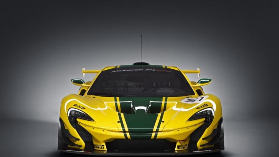 Racetrack rocket: The 2015 McLaren P1 GTR.
