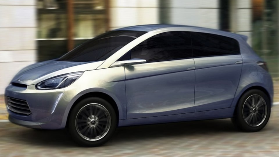 Mitsubishi e-compact, the concept car is likely to become the replacement for the Colt hatchback.