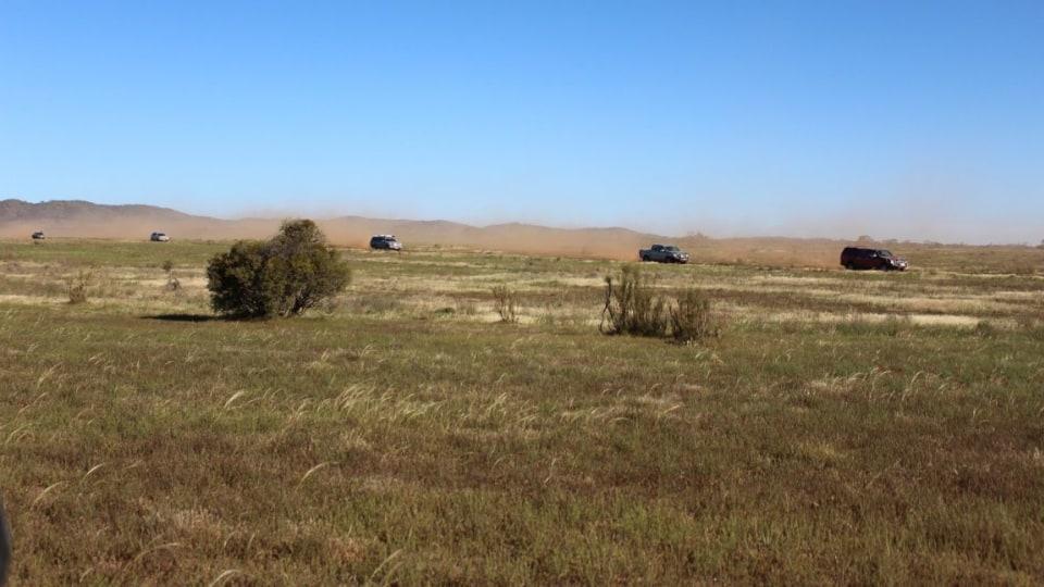 Isuzu MU-X and D-Max dual cab ute handled the rough stuff in the Flinders Ranges.