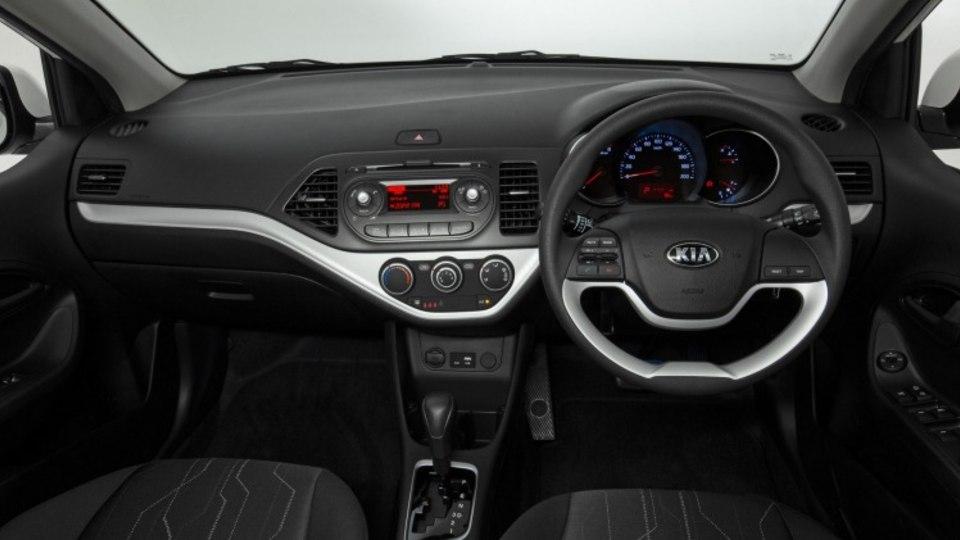 The 2016 Kia Picanto interior.