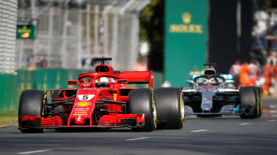 Sebastian Vettel wins the 2018 Australian Grand Prix.