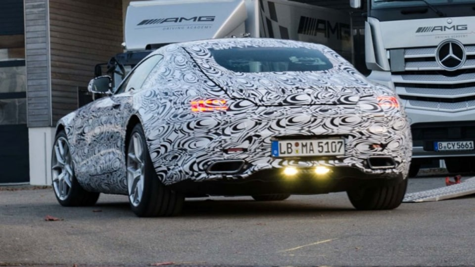The Mercedes-Benz AMG GT has been snapped by spy photographers during testing.