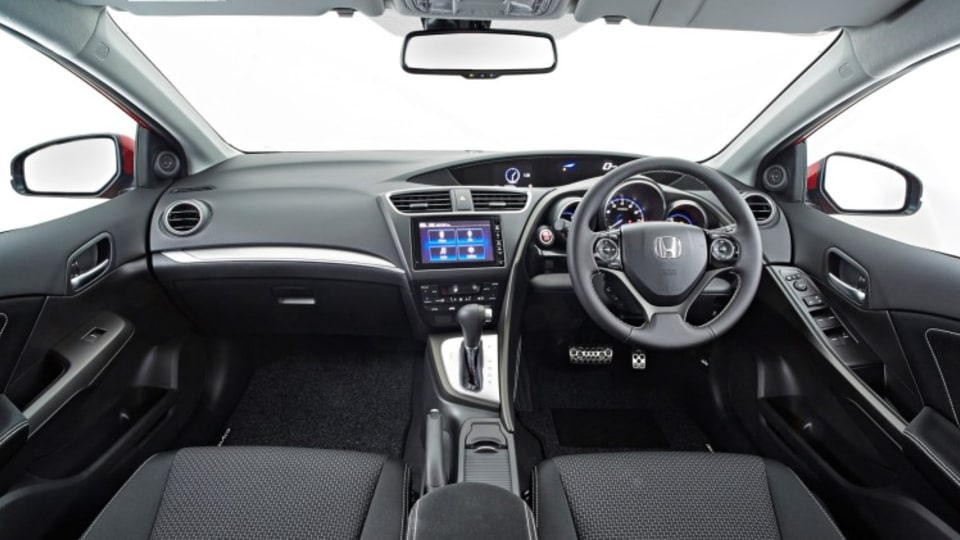 The interior of the new Honda Civic is well laid out.