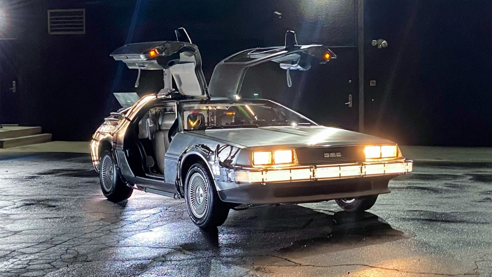 This DeLorean is up for auction, complete with 'original flux capacitor'