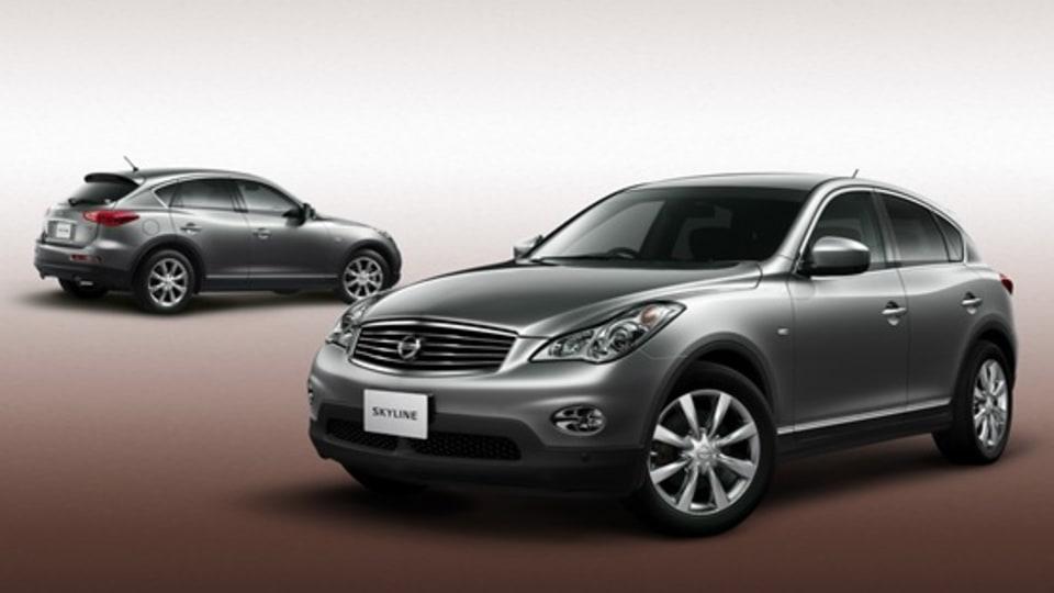 Infiniti EX Badged As Nissan Skyline Crossover For Japan Market