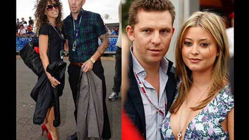Singer Jade McRae and hip hop artist Phrase and actress and singer Holly Valance with boyfriend Nick Candy.