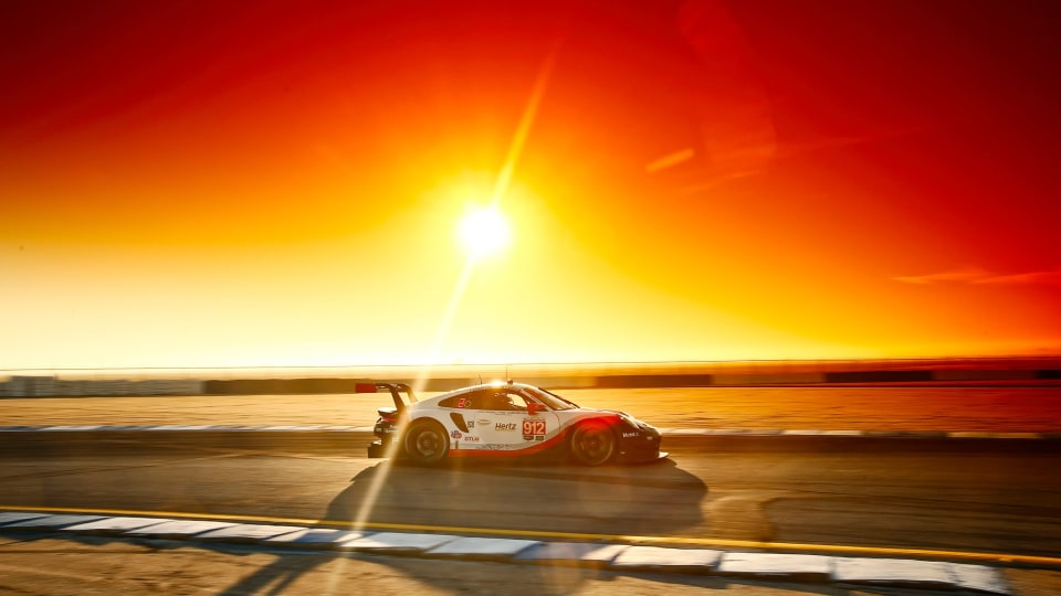 Porsche won the GTLM category at the 2018 Sebring 12 Hour