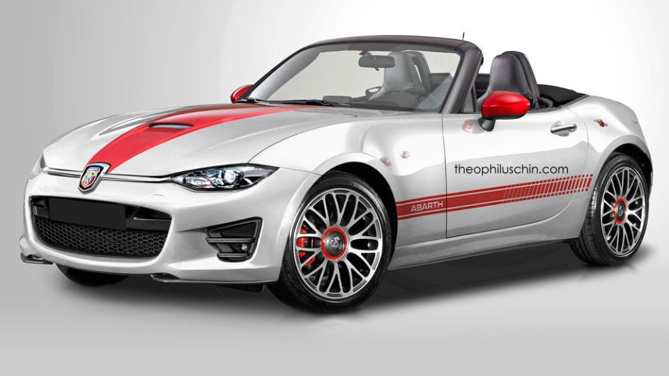 2017 Fiat Abarth Roadster Rendered