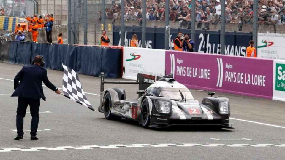 Porsche 919 Hybrid of Romain Dumas, Neel Jani, Marc Lieb snatched victory at the 2016 Le Mans 24 hour after Toyota's lead car stopped three minutes before the chequered flag
