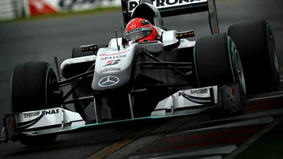 Mercedes driver Michael Schumacher during Qualifying.