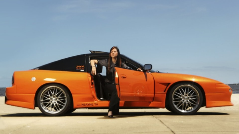 Sara Clissold with her Nissan 180SX.