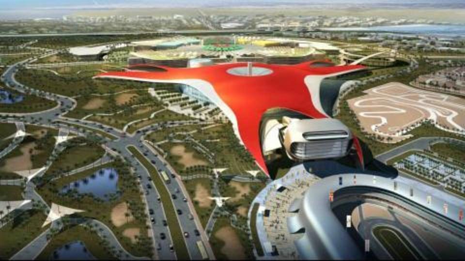 Ferrari fun park Foundation Stone Ceremony in Abu Dahbi