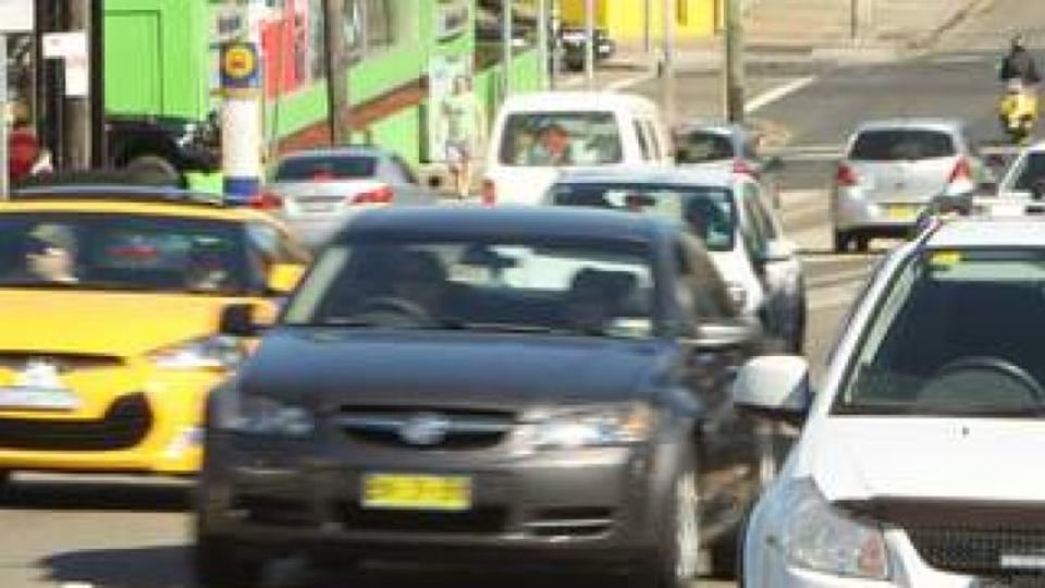 Sections of Parramatta road where parking is allowed on weekends may soon become clearways on weekends. Picture shows cars parked along Parramatta Rd, Leichardt, Sydney. 27th April 2013. Photo by Tamara Dean