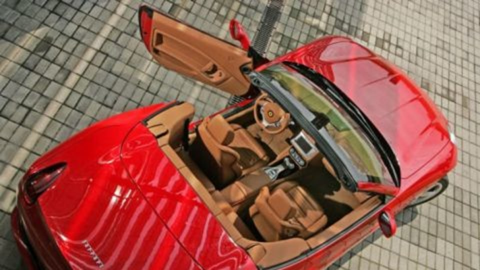 Ferrari California is one hot topless Italian...