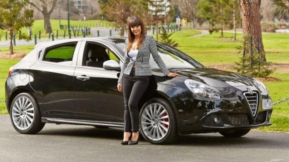 Presence: Stylist Colette Werden and her Alfa Romeo Guilietta.
