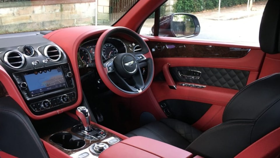 The 2016 Bentley Bentayga offers impressive levels of luxury inside.
