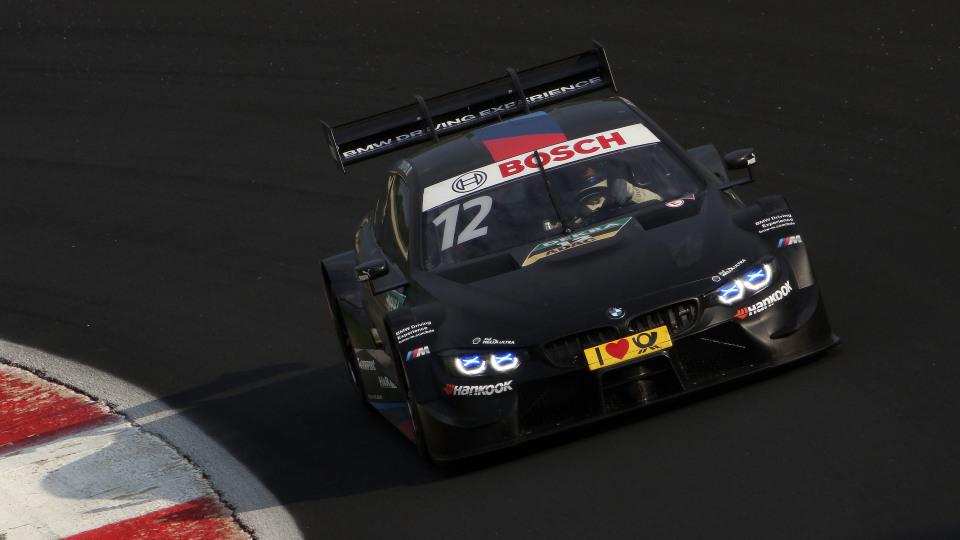Alex Zanardi testing the BMW M4 DTM car.