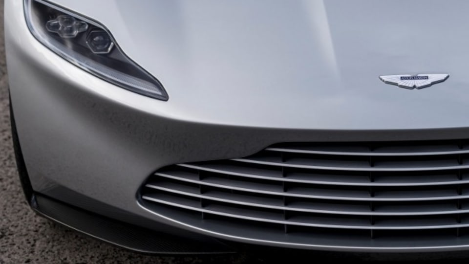 The Aston Martin DB10 up for auction was one of 10 created for the latest James Bond film Spectre, but was kept out of action sequences and used as a display car.