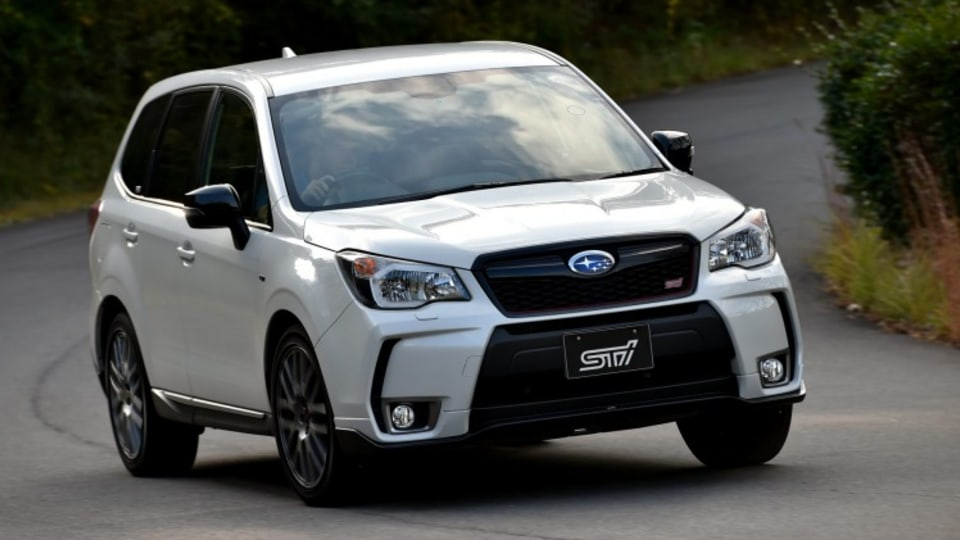 Subaru Forester tS adds some STI tweaks to the Forester range.