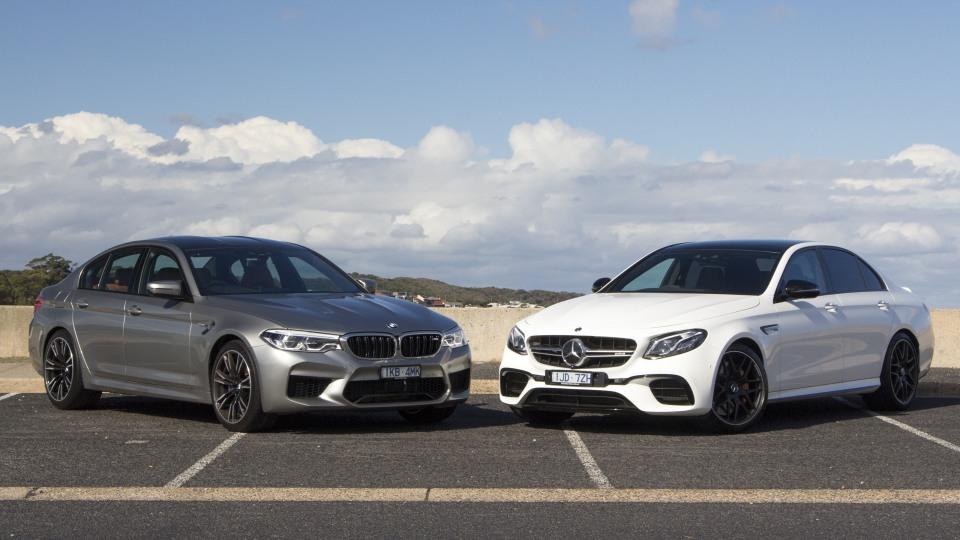 Head-to-head: BMW M5 v Mercedes-AMG E63 S.