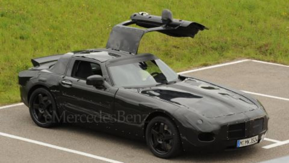 Gullwing redux: Mercedes SLC Caught Testing