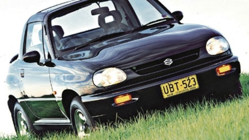Suzuki's X90 combined sports car styling with four-wheel-drive underpinnings.