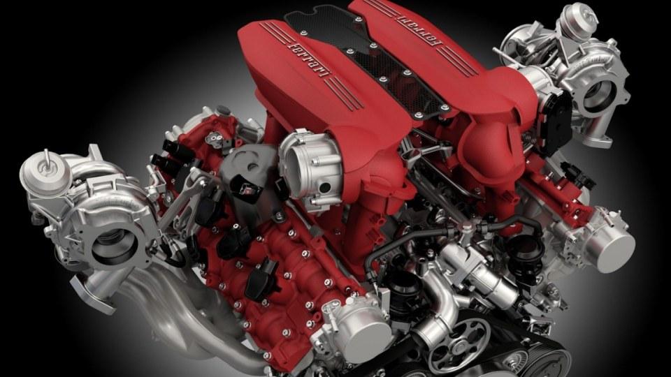 The 2015 Ferrari 488 GTB twin-turbo 3.9-litre V8 makes 492kW and 760Nm.