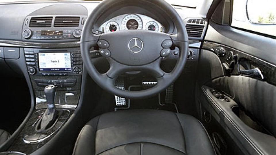 Mercedes-Benz E500 Avantgarde: interior. Picture: Eddie Jim