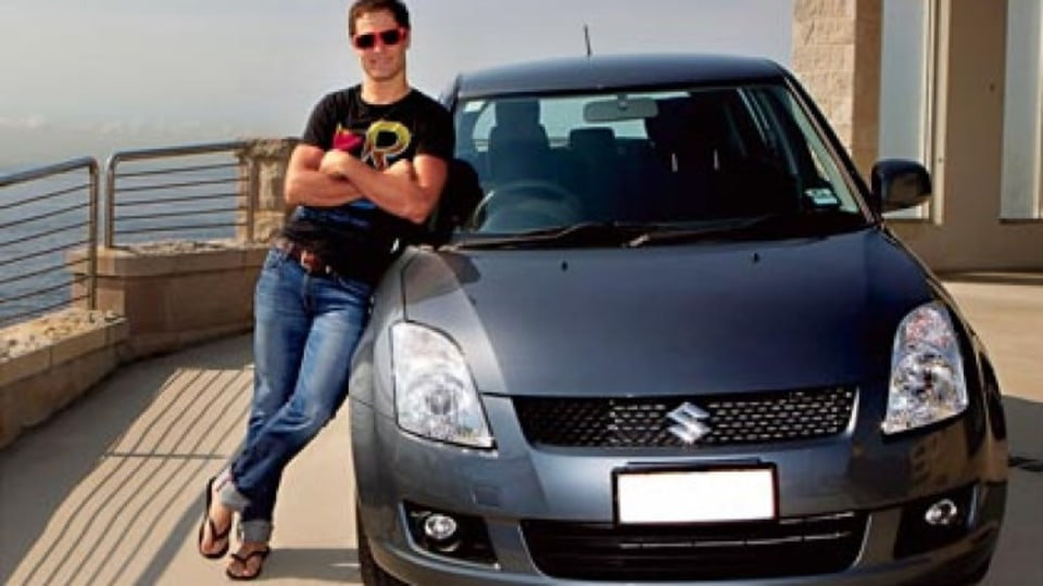 Ben Kersten with his Suzuki Swift.