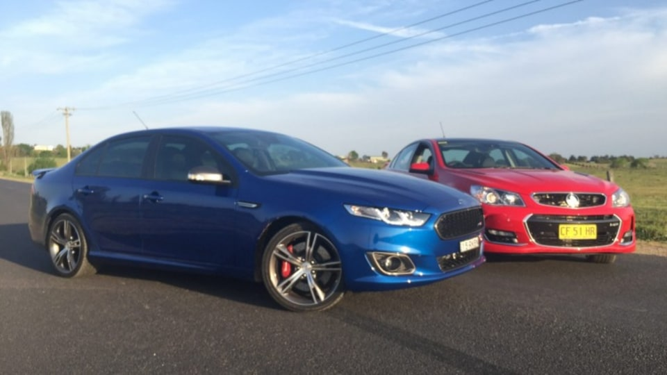 The Ford Falcon XR8 overpowers its red-blooded rival.