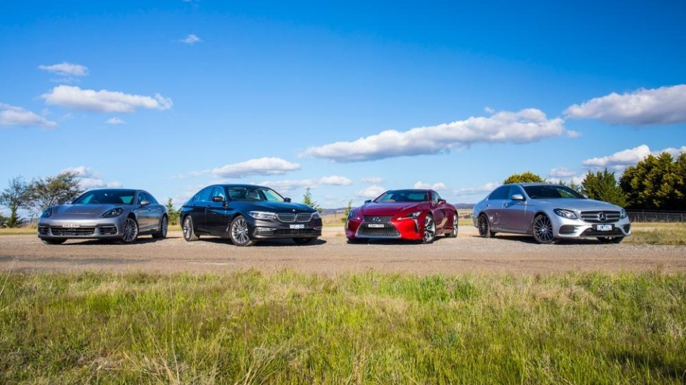 Drive 2017 Best Luxury Car Over $80k group shot