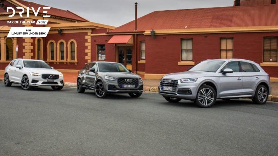 Drive 2017 Best Luxury SUV Under $80k group shot