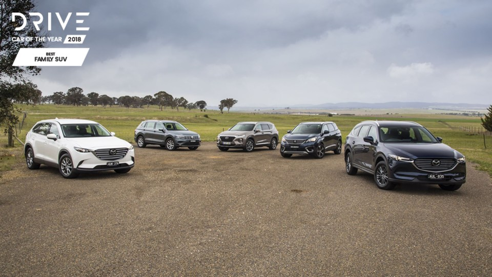 Drive 2018 Best Family SUV group shot