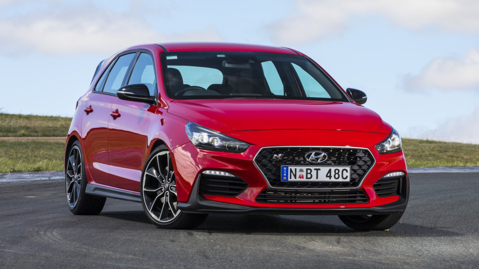 Drive 2018 Best Performance Car Under $60,000 Hyundai i30 N front exterior