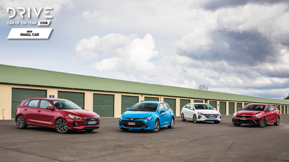 Drive 2018 Best Small Car group shot