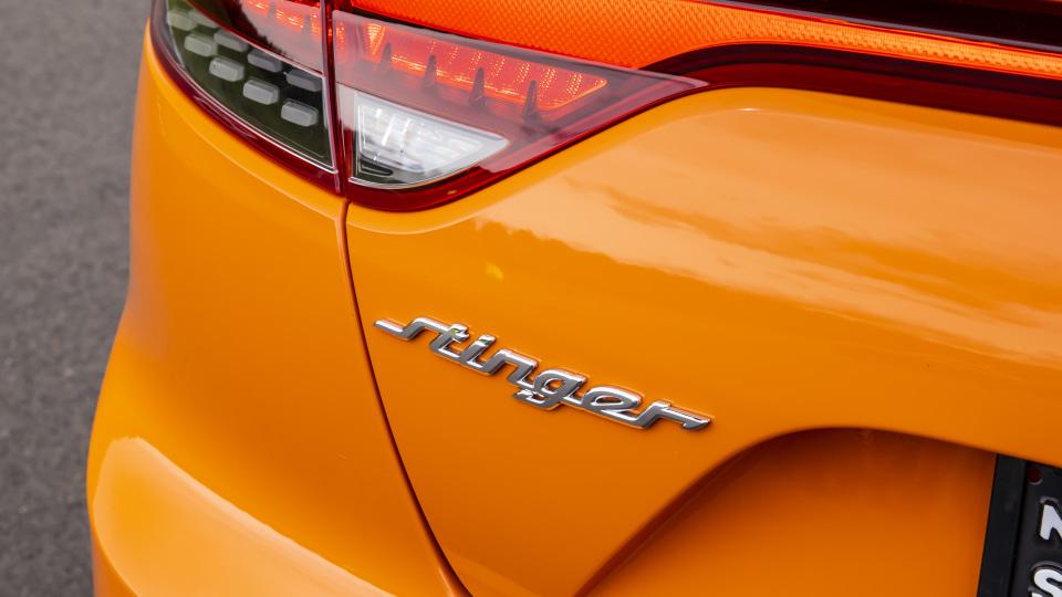 Drive Best Medium To Large Car 2021 finalist Kia Stinger GT exterior rear label