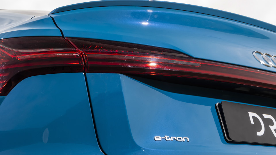 Drive Car of the Year Best Electric Vehicle 2021 finalist Audi e-Tron rear left tail light