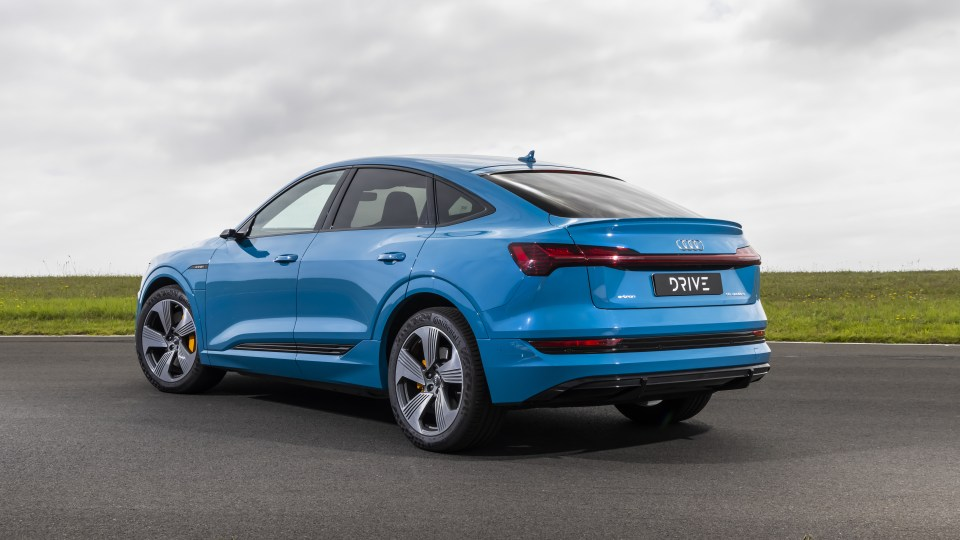 Drive Car of the Year Best Electric Vehicle 2021 finalist Audi e-Tron rear exterior view