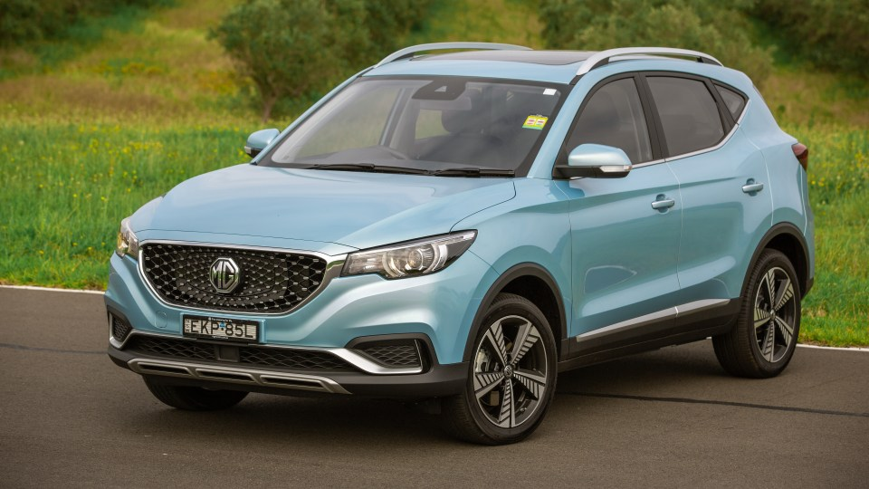 Drive Car of the Year Best Electric Vehicle 2021 finalist MG ZS EV front exterior view