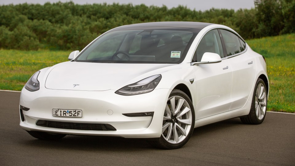 Drive Car of the Year Best Electric Vehicle 2021 finalist Tesla Model 3 front exterior view