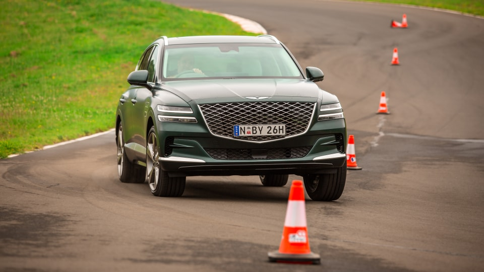 Drive Car of the Year Best Large Luxury SUV 2021 finalist Genesis GV80 driven on road circuit