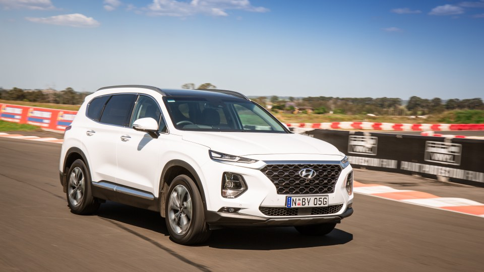 Drive Car of the Year Best Large SUV 2021 finalist Hyundai Santa Fe front left exterior view
