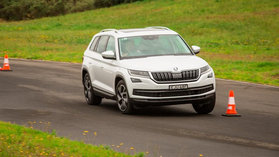 Drive Car of the Year Best Large SUV 2021 finalist Skoda Kodiaq driven on road circuit