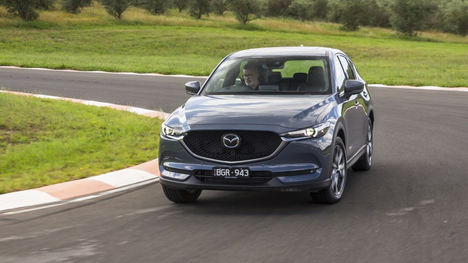 Drive Car of the Year Best Medium SUV 2021 finalist Mazda CX-5 front exterior view