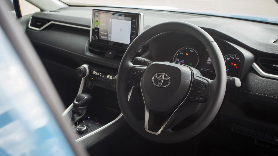 Drive Car of the Year Best Medium SUV 2021 finalist Toyota Rav 4 steering wheel driver seat