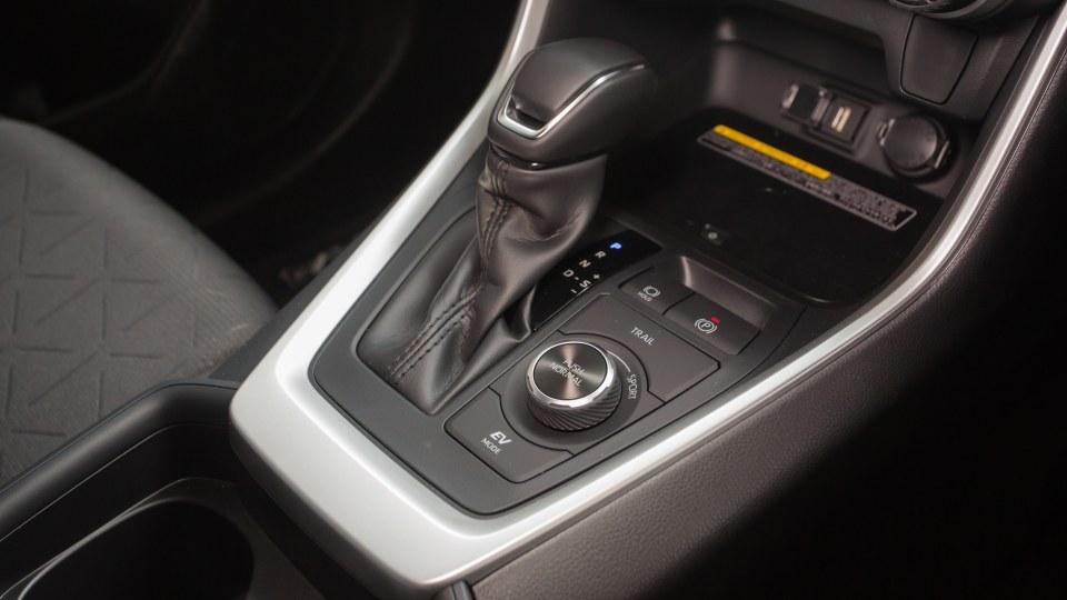 Drive Car of the Year Best Medium SUV 2021 finalist Toyota Rav 4 gear-shift