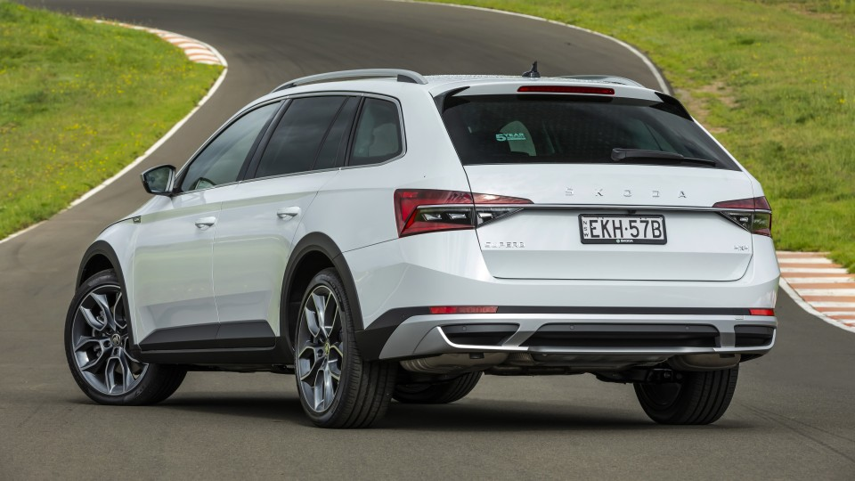 Drive Car of the Year Best Medium To Large Car 2021 finalist Skoda Super exterior rear view