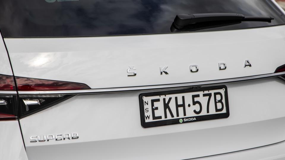 Drive Car of the Year Best Medium To Large Car 2021 finalist Skoda Super exterior rear boot