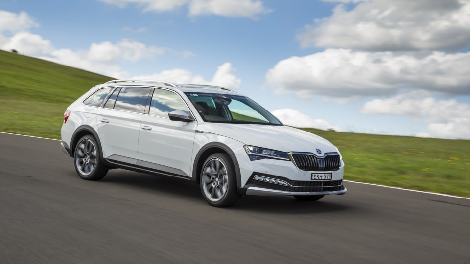 Drive Car of the Year Best Medium To Large Car 2021 finalist Skoda Super exterior right side