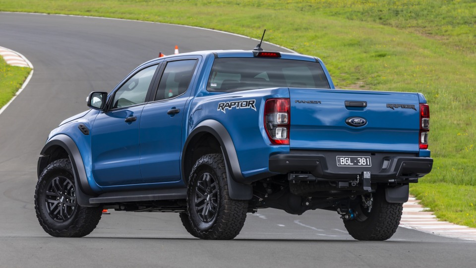 Drive Car of the Year Best Off-Road SUV 2021 finalist Ford Ranger Raptor rear exterior view